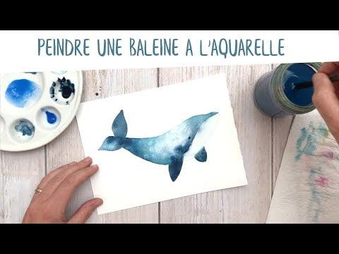 Tutoriel peindre une baleine à l'aquarelle
