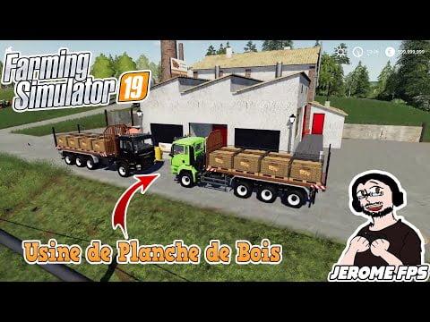 🚜[FR] (TUTO) FARMING SIMULATOR 19 Explication Usine de Planche de Bois Activer Produire et Vendre