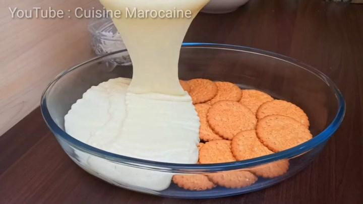 Recette Gâteau Sans Cuisson ‼️ avec Lait et Biscuits facile et rapide 🔝