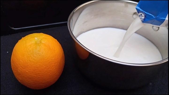 Prenez le Lait et une Orange ❓ Faites ce merveilleux Dessert sans four ‼️