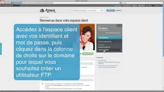 Amen.fr I Guide de l'utilisateur I Création d'un compte utilisateur FTP