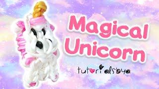 Magical Fluffy Unicorn Horse Animal Charm Rainbow Loom Tutorial | How To