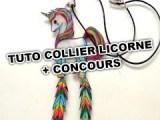 TUTO LICORNE ET PLUMES COLLIER PLASTIQUE DINGUE CONCOURS GRAINE CREATIVE