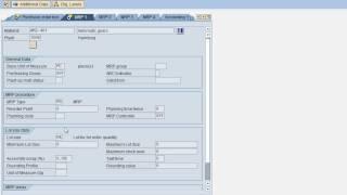 SAP MM Create material demo