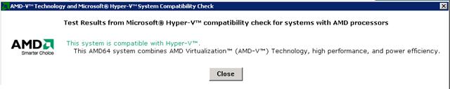 AMD-V Technology Compatibility Check