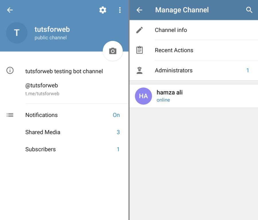 Telegram bot as administrator