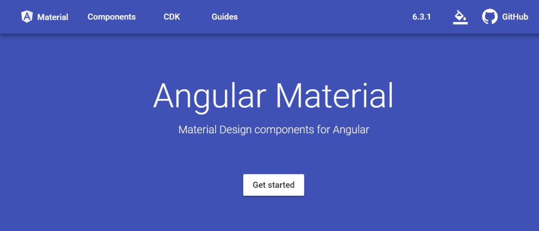 Angular-Material Material Design Framework