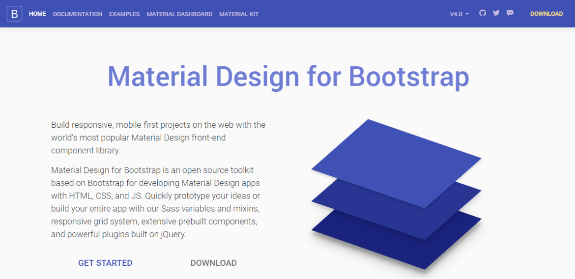 Material Design for Bootstrap Framework