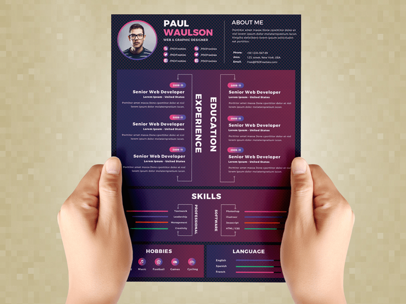 Creative Resume Design Template