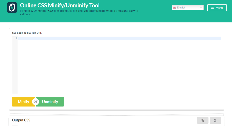 Online CSS Minify/Unminify Tool
