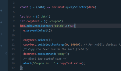 javascript copy text to clipboard