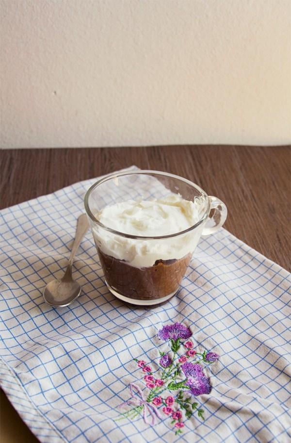 budino al cioccolato cacao yogurt sano fit ricetta avena prozis dessert dolce