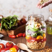 meal prep prepping preparazione pasti cibo sano organizzazione studenti insalata