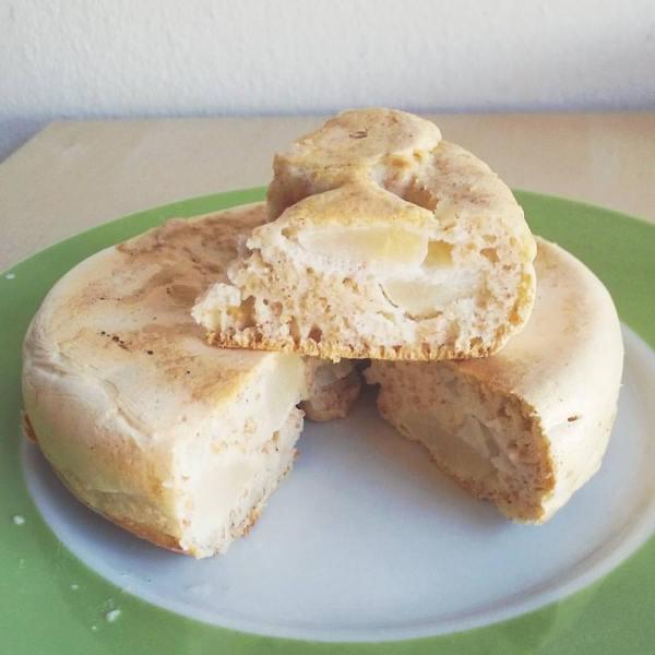 tortino pere cannella cicciopancake pancake fit albumi pera ricetta riciclare frutta troppo matura