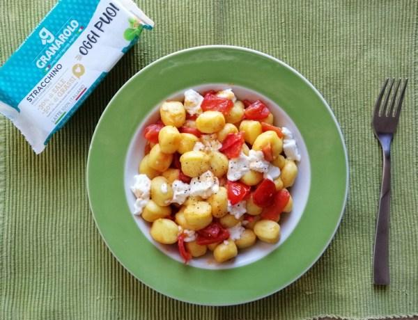 gnocchi con pomodorini e stracchino ricetta facile e veloce