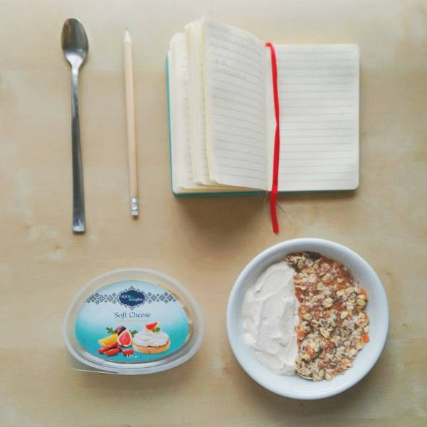 carrot cake cream cheese oatmeal book notebook