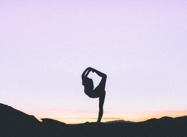 king dancer pose sunset asana