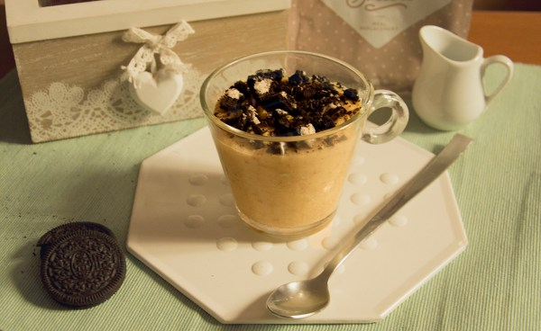 porridge freddo colazione proteica oreo