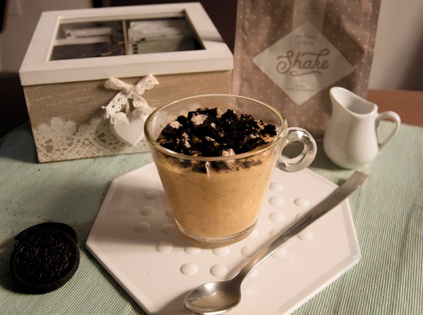 porridge oreo crema e biscotti exante proteico colazione