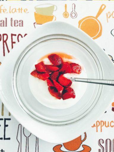 yogurt greco skyr fragole