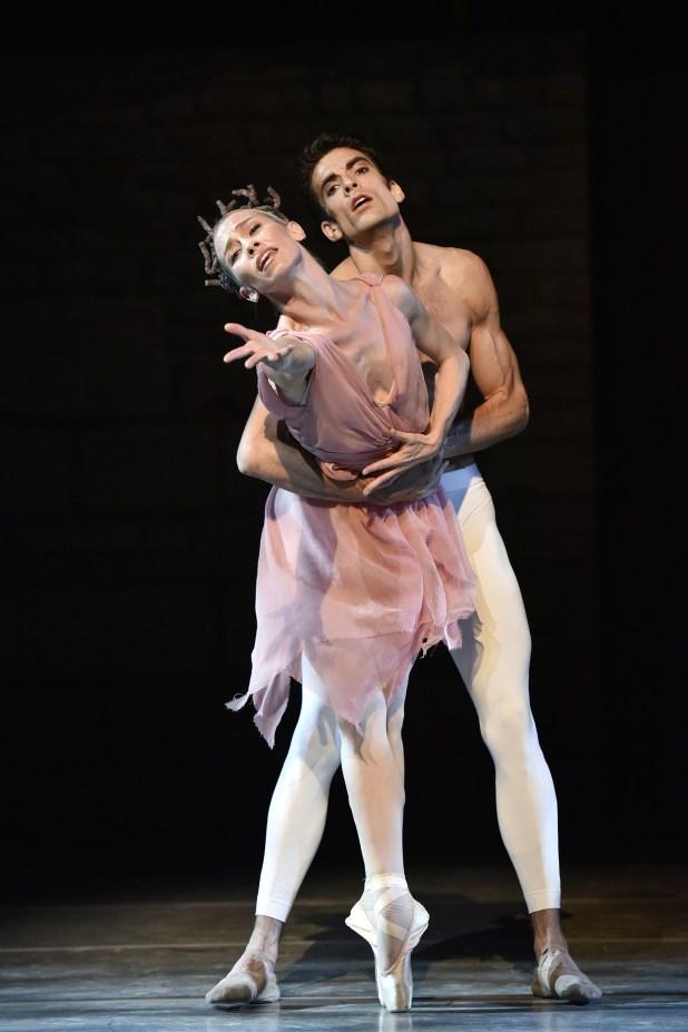 03/07/2015 58 Festival Di Spoleto. Teatro Romano. Danza, Soiree Roland Petit - La rose malade ( 1973 ). Nella foto i ballerini Eleonora Abbagnato, Audric Bezard