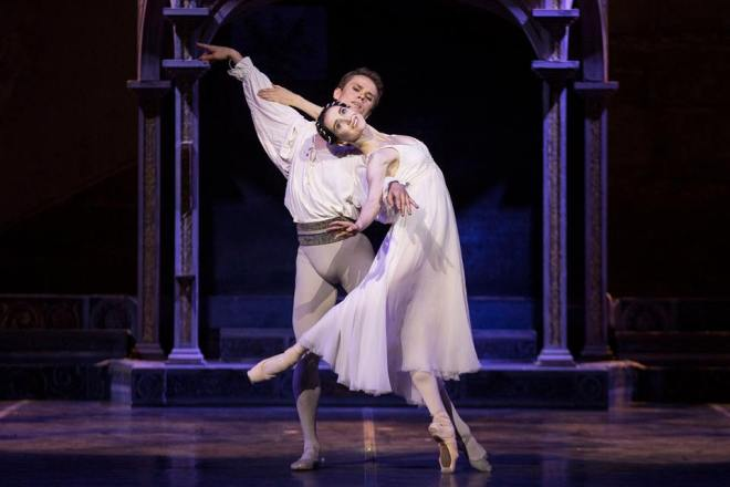 Olesya Novikova e Leonid Sarafanov - Romeo e Giulietta. © Ph. Luciano Romano.