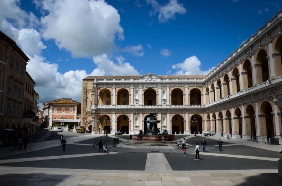 The view of Piazza Della Madonna from the steps of the Basilica della Santa Casa