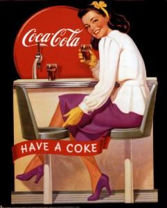 Pubblicità anni '60 Coca Cola