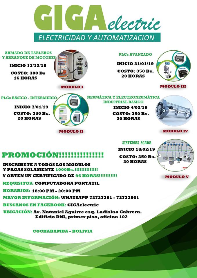 cursos de control y automatización industrial.