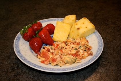 Tomato egg scramble recipe
