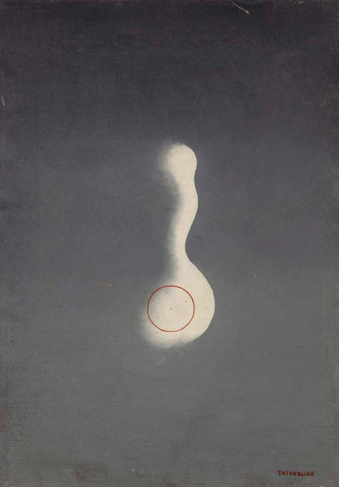 Sans titre, huile sur toile, 55 x 38 cm, Musée National d'Art Moderne - Centre Georges Pompidou, Paris - Crédit photo : Centre Pompidou, MNAM-CCI, Dist, RMN-Grand Palais / Jacques Faujour