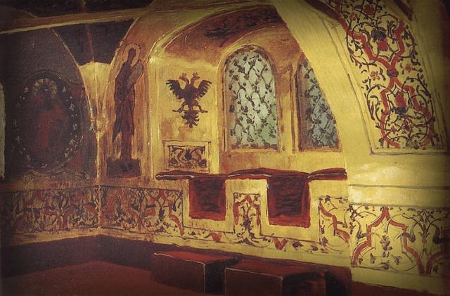 Окно Золотой Царицыной палаты. Картина Василия Дмитриевича Поленова, 1877г.