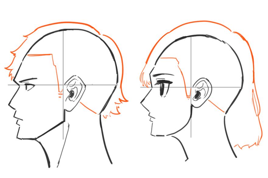 横顔の描き方6