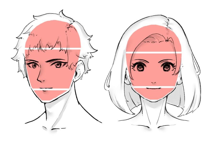簡単顔の描き方1