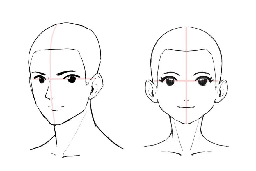 簡単顔の描き方7
