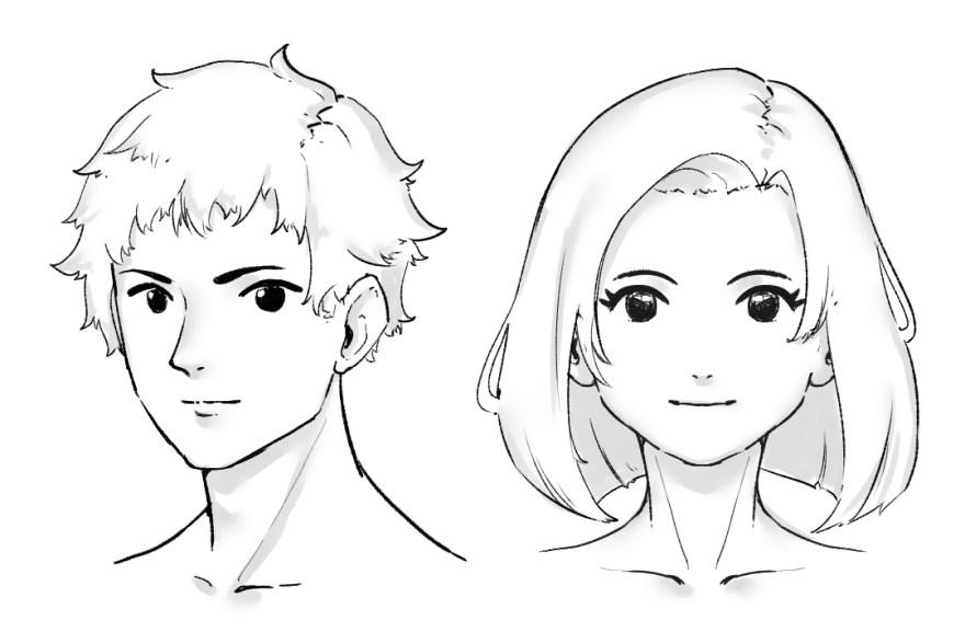 簡単顔の描き方9