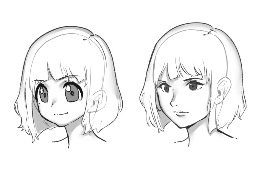 カワイイ顔の描き方1