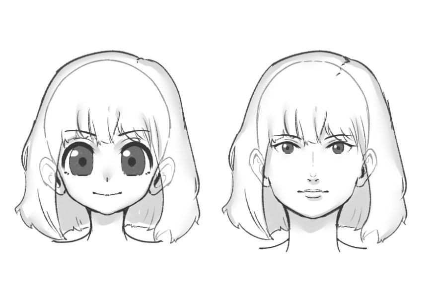 カワイイ顔の描き方2