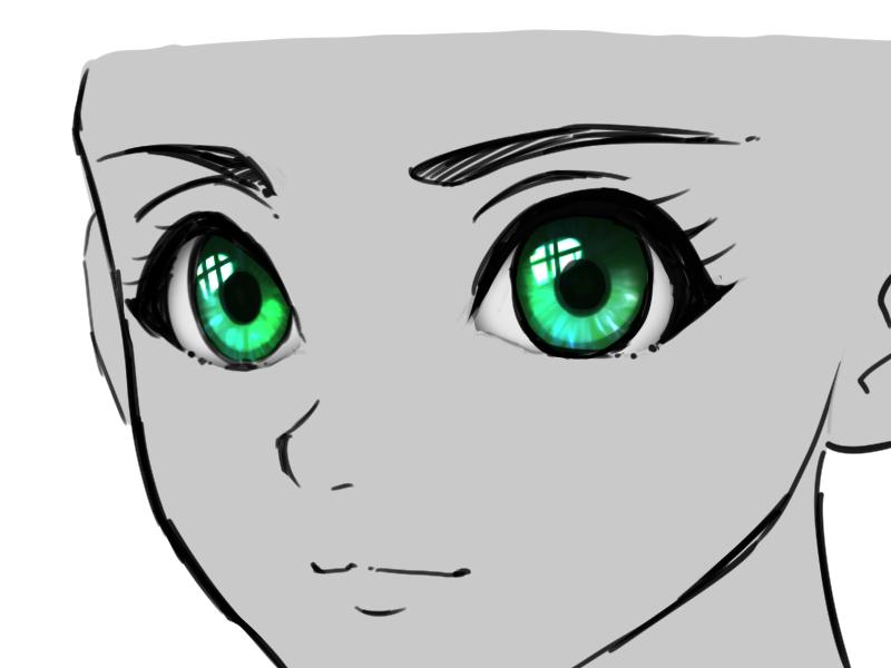 目の塗り方