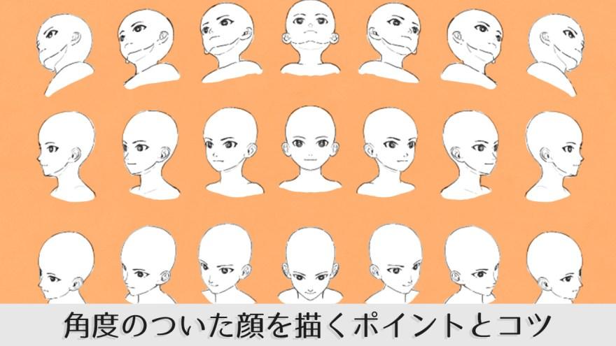様々な角度の顔