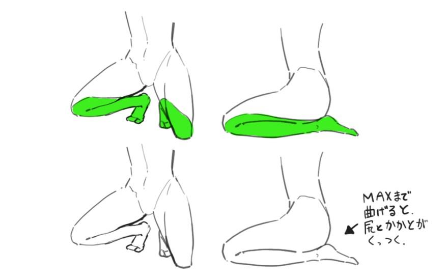 脚の描き方 6