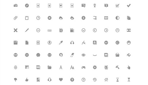 204 Google Plus Interface Icons, Including Several Sizes. (Pixel Perfect)