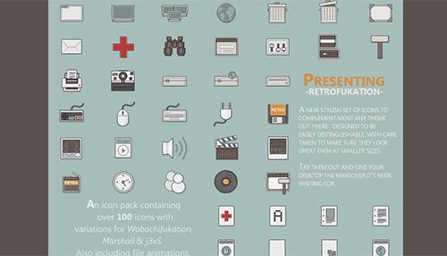 Retrofukation -Icons