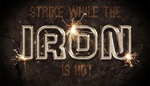 Sparkling Iron Text Effect Photoshop Tutorial | Tutvid.com