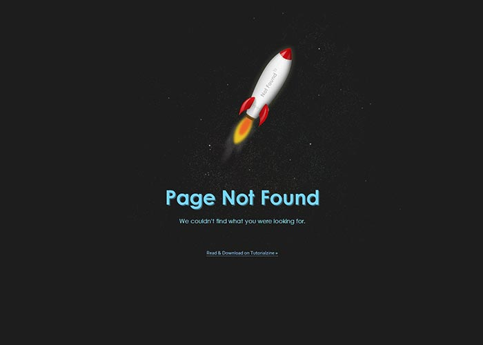 7. Creating an Animated 404 Page