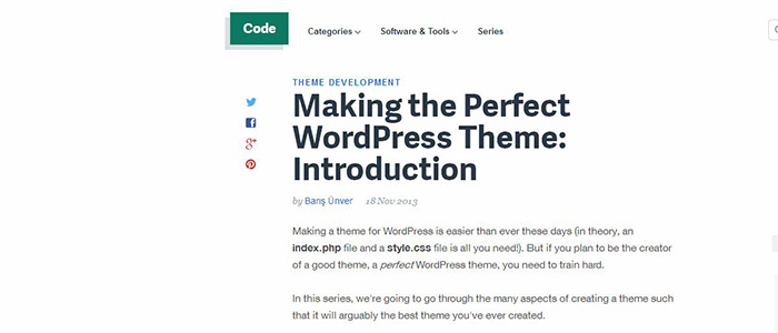 Making the Perfect WordPress Theme: Introduction