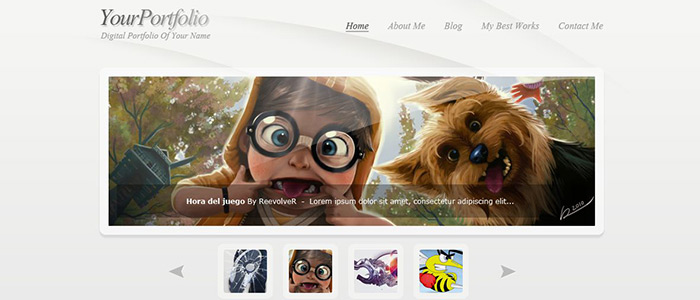 Learn To Create A Clean Style Portfolio Layout