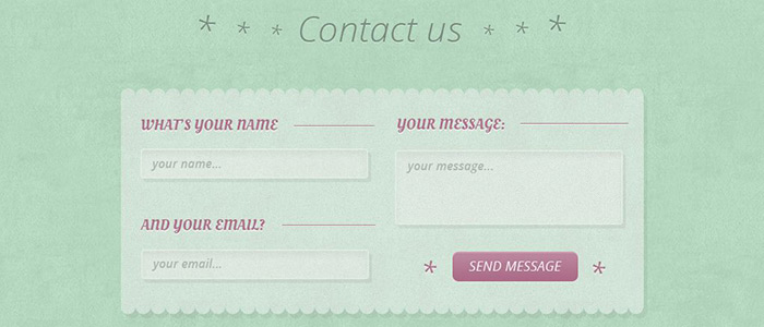Create a Nice Green Contact Form, Part 1: Photoshop