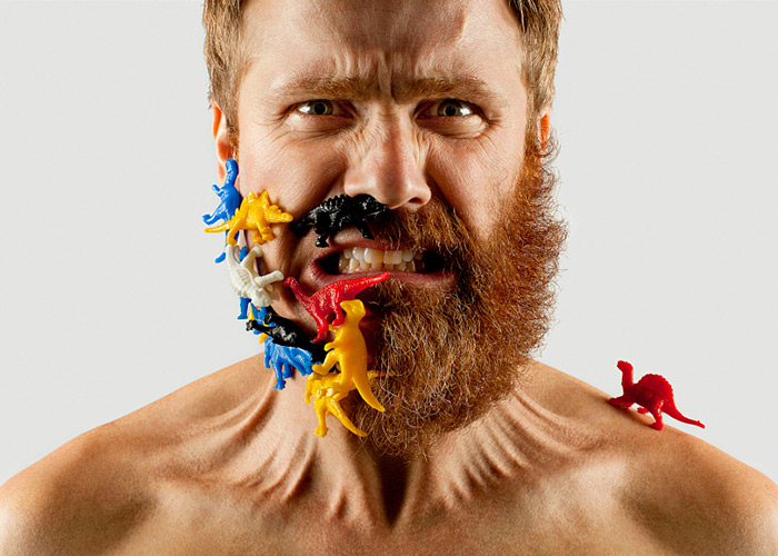 Half Beard Self Portrait