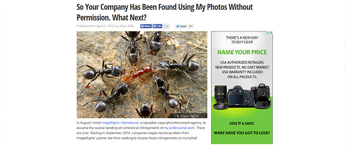 So Your Company Has Been Found Using My Photos Without Permission